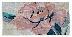 Textured Floral No.2 Beach Sheet