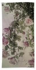 Textured Roses Beach Towel