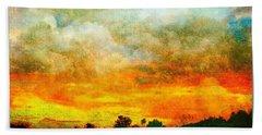 Textured Sunset Beach Sheet