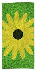 Textured Yellow Daisy Beach Towel