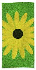 Textured Yellow Daisy Beach Towel