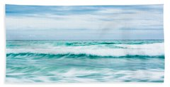 Textures In The Waves Beach Towel by Shelby  Young