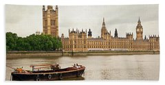 Thames Beach Towel by Keith Armstrong