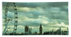 Thames View 1 Beach Towel by Steven Richman