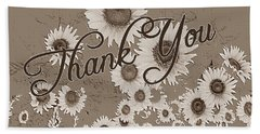 Thank You Card Daisies Beach Sheet