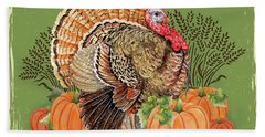 Beach Towel featuring the painting Thanksgiving-b by Jean Plout
