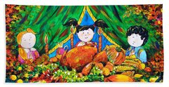 Thanksgiving Day Beach Towel