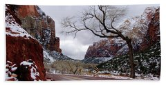 That Tree In Zion Beach Sheet by Daniel Woodrum