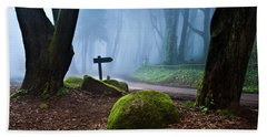 Beach Towel featuring the photograph That Way by Jorge Maia