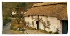 Thatched Cottage By Ford  Beach Sheet by Richard Brookes