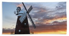 Thaxted Windmill At Sunset Beach Towel