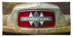 The 1947 International Emblem Ihc Trucks Beach Towel