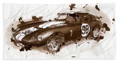 The 1965 Ford Cobra Mustang Beach Towel