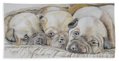 The 3 Puppies Beach Towel