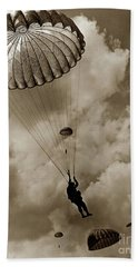 The 82nd Airborne  Hits The Silk Fort Ord 1953 Beach Towel