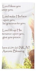 The Aaronic Blessing And True Light Lower Emerald Pools Zion Beach Sheet