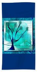 The Abstract Tree Beach Sheet by Iris Gelbart