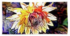 The Abstracted Dahlia  Beach Towel by Steve Taylor