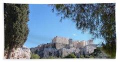 Beach Sheet featuring the photograph The Acropolis by Constance DRESCHER