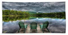 The Adirondack Mountains - Forever Wild Beach Towel