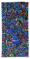 The After Party, Another Party - Chromatic Abstract Painting - Ai P. Nilson Beach Sheet