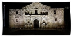 Beach Towel featuring the photograph The Alamo On Halloween by Joseph Hendrix