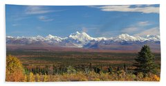 The Alaska Range From The Denali Highway Beach Towel