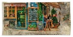 The Albar Coffee Shop In Alvor. Beach Sheet