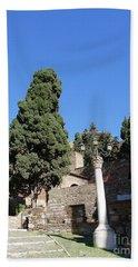 The Alcazaba Of Malaga In Andalucia Spain Beach Sheet