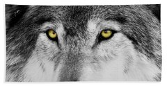 Beach Towel featuring the photograph The Alpha Portrait by Mircea Costina Photography