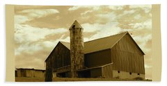 The Amish Silo Barn Beach Sheet