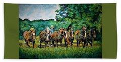 The Amish Team Beach Towel