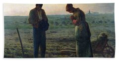 The Angelus Beach Towel by Jean-Francois Millet