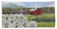 The Apple Farm Beach Sheet by Stanton Allaben