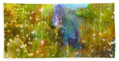 The Approach Of Autumn Beach Towel by LemonArt Photography