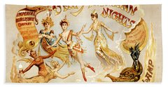 The Arabian Nights Burlesque Beach Towel
