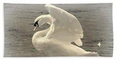 The Art Of The Swan  Beach Towel