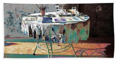 The Artists Table Beach Towel by Don Pedro De Gracia