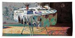 The Artists Table Beach Sheet by Don Pedro De Gracia