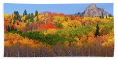 The Autumn Blanket Beach Sheet