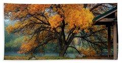 The Autumn Tree Beach Sheet