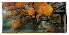 The Autumn Tree Beach Sheet