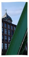 The Ayer Mill And Clock Tower Beach Towel