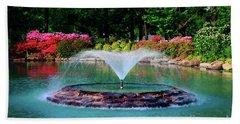 The Azalea Pond At Honor Heights Park Beach Towel
