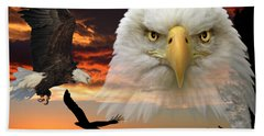 Beach Towel featuring the photograph The Bald Eagle by Shane Bechler