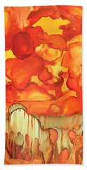 The Ball Of Fire Explodes Beach Towel