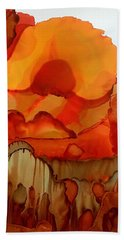 The Ball Of Fire Beach Towel