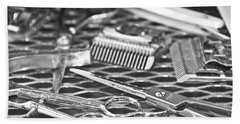 The Barber Shop 10 Bw Beach Towel