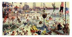 The Barnum And Bailey Greatest Show On Earth The Great Coney Island Water Carnival Beach Sheet