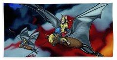 The Bat Riders Beach Towel
